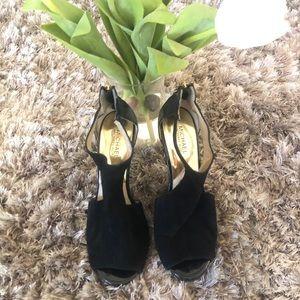 Michael Kors Black Suede High Heels Size 9.5